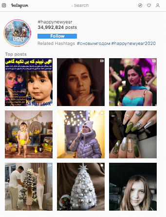 Best instagram hashtags for happynewyear 2020